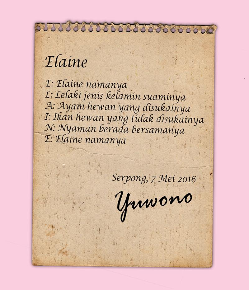 Yuwono Gusman - puisi untuk istri